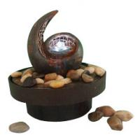 Buy cheap Antique Copper Color Decorative Table Top Water Fountains With Flower Pot product