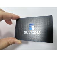 Buy cheap Customized Stainless Steel Matte Black Metal Business Member Card With Color Painted Logo product