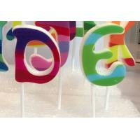 Buy cheap Multi Colored Letter Birthday Candles 100% Paraffin With White Plastic Holder product