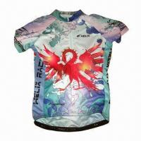 China Sublimation-printed Cycling Jersey, Customized Artworks Accepted, Made of Coolmax/Quick-dry Fabric on sale
