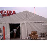 Quality 8M Width Waterproof Outdoor Event Tent Structure White PVC Fabric Cover for sale
