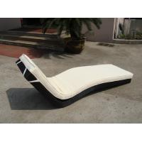 Buy cheap Hotel Park Strong Brown Sunlounger With Power Coated Aluminum Frame product