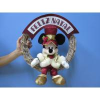 Buy cheap Mickey Mouse Disney Plush Toys with Wreath / Christmas Holiday Stuffed Toys product
