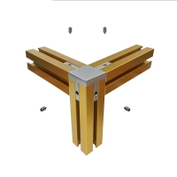 Buy cheap Anodized Black Gold Silver Champagne Exhibition Display Aluminum Profiles product