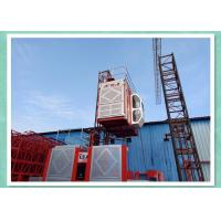 3 Motors Driven Double Cages Building Hoist Construction Elevator Rental