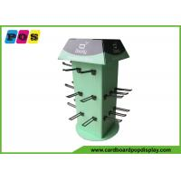 Buy cheap Four Sides Rotated Cardboard Counter Display , Black Pegs Retail Counter from wholesalers