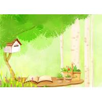 Buy cheap Cartoon Picture Green Bamboo Fiber Board Healthy and Livable for Living Room product