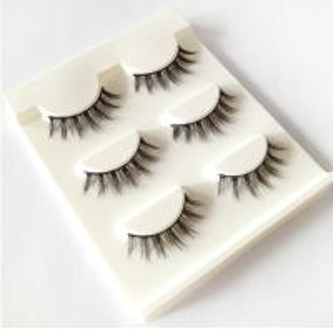 Buy cheap New 3 pairs natural false eyelashes fake lashes long makeup 3d mink lashes extension eyelash mink eyelashes for beauty product