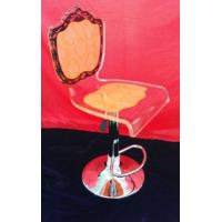 Buy cheap Adjustable Orange Modern Acrylic Furniture / Acrylic Chair , Laser Engraved product