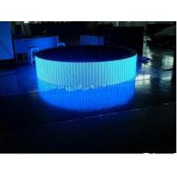 Buy cheap P7.62 Curved LED Screen 1R1G1B For Video / Photo / Message Advertising product