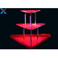 Buy cheap Crystal Clear Acrylic Display Stands 3 Layer Lucite Wedding Wine Stand product