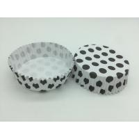 Buy cheap Round Shape Wedding Black And White Polka Dot Cupcake Liners Greaseless Non Stick product