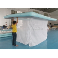 Buy cheap Portable Inflatable Floating Ocean Sea Swimming Pool / Protective Anti Jellyfish Pool With Netting Enclosure For Yacht product