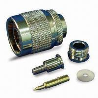 Buy cheap RF Coaxial Connector N Plug Clamp for RG178, with Brass and Gold Pin product
