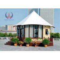 Quality Fire Retardant Large Permanent Glamping Tents , Eco Material Permanent Tent Homes for sale