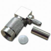Buy cheap Coaxial Connector in 1.0/2.3 Type Plug Right Angle Crimp for RG179 product