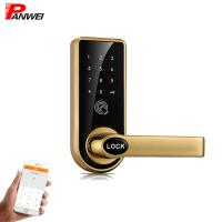 Buy cheap Mechanical Pin Code Door Lock Zinc Alloy For Wooden Iron Door Black Silver product
