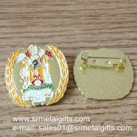 Buy cheap Metal enamel colour filled lapel pin with safety pin product