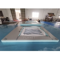 Buy cheap Portable Anti-Jellyfish Inflatable Yacht Pool / Pontoon Water Pool, Inflatable Floating Ocean Sea Pool With Net product