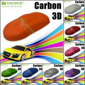 Buy cheap 3D Carbon Fiber Vinyl Wrapping Film bubble free 1.52*30m/roll - Orange product
