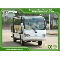 Buy cheap EXCAR white 72V 11 Seater Electric Sightseeing Car With Storage Basket from wholesalers