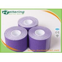 Buy cheap Elastic Athletic Kinesiology Physiotherapy Tape , Colored Kinesiology Tape Knee Support from wholesalers