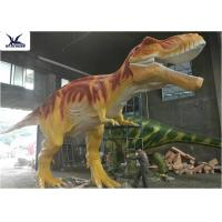 Buy cheap Handmade T Rex Model Giant Dinosaur Statue For Road Beautification / Zoo Exhibition product