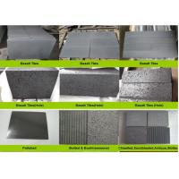 Buy cheap Hainan Black Lava Sands Blasted Bluestone Black Dark Basalt Flamed Grooved Natural Stone Tiles Slabs product