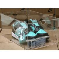 Buy cheap Non - toxicity Acrylic Storage Boxes , clear shoe boxes with lid for display product