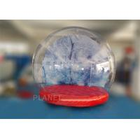 Buy cheap 0.5mm PVC Trapaulin Outdoor Inflatable Snow Globe For Amusement Park product