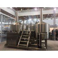 SUS 304 7Bbl Large Scale Brewing Equipment Semi Automatic Control System