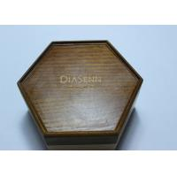 Quality Dark Solid Wood Standing Jewelry Box , Gift Wood Hexagon Shaped Box for sale