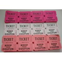 Buy cheap Non Toxic Perforated lottery Ticket Printing Raffle Coupon Paper Supply Disposable product