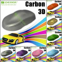 Buy cheap 3D Carbon Fiber Vinyl Wrapping Film bubble free 1.52*30m/roll - Silver product