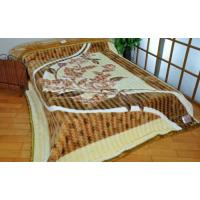 Buy cheap Novelty Knitting 100% Polyester Mink Blanket Breathable For Hospital / Hotel product