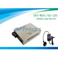 Buy cheap Optical Media Converter 1310 / 1550 Nm Single Fiber SM SC 120KM product