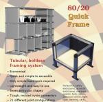Rectangle Square Tube Aluminium Shelf Brackets