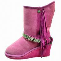 Buy cheap 2013 Fashion Women's Boots with Tassels/Elevator Shoes with Slipsole, Customized from wholesalers