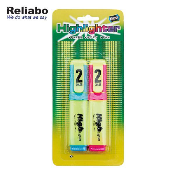 Quality Mini Novelty Stack Highlighter Marker Pen Customize Logo , Orange Highlighter Pen for sale