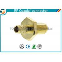 Buy cheap Female Bulkhead Coaxial Connector  50 Ohms for 1.13mm / 1.32mm / 1.37mm Cable product