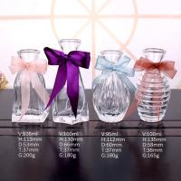 China Clear Refillable Empty Glass Perfume Bottle Aroma Reed Diffuser Glass And PP Material on sale