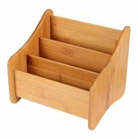 Buy cheap Small Bamboo Office Supplies Wood Desk Organizer Storage Holder For Pen product