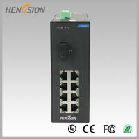 Quality Din rail Lightweight Gigabit Ethernet Switch 8 Electric Port and 1 FX for sale