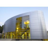 Buy cheap Silver Gold Non Combustible Aluminum Curtain Wall Extrusions Facade Cladding product