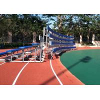 Buy cheap Moveable Aluminum Grandstands Sports Metal Structure Bleachers Single / Double Foot Planks product