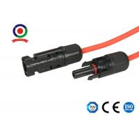 Buy cheap Flame Resistant Flexible MC4 Solar Cable , Black 1000V Solar Panel Cable product