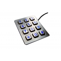 Buy cheap 4 X 3 Stainless Steel Vending Machine Keypad with personalized nightlight product