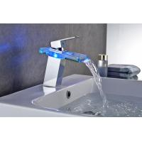 Quality Contemporary 3 Color Change Bathroom Basin Faucets For Hotel Use , CE Certified for sale