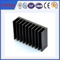 Buy cheap Black anodized aluminum extrusion profile supplier, supply aluminum radiator extrusion product