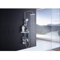 Buy cheap Adjustable Slide Bar Rain Shower Set ROVATE Exposed Pipe Shower Systems product